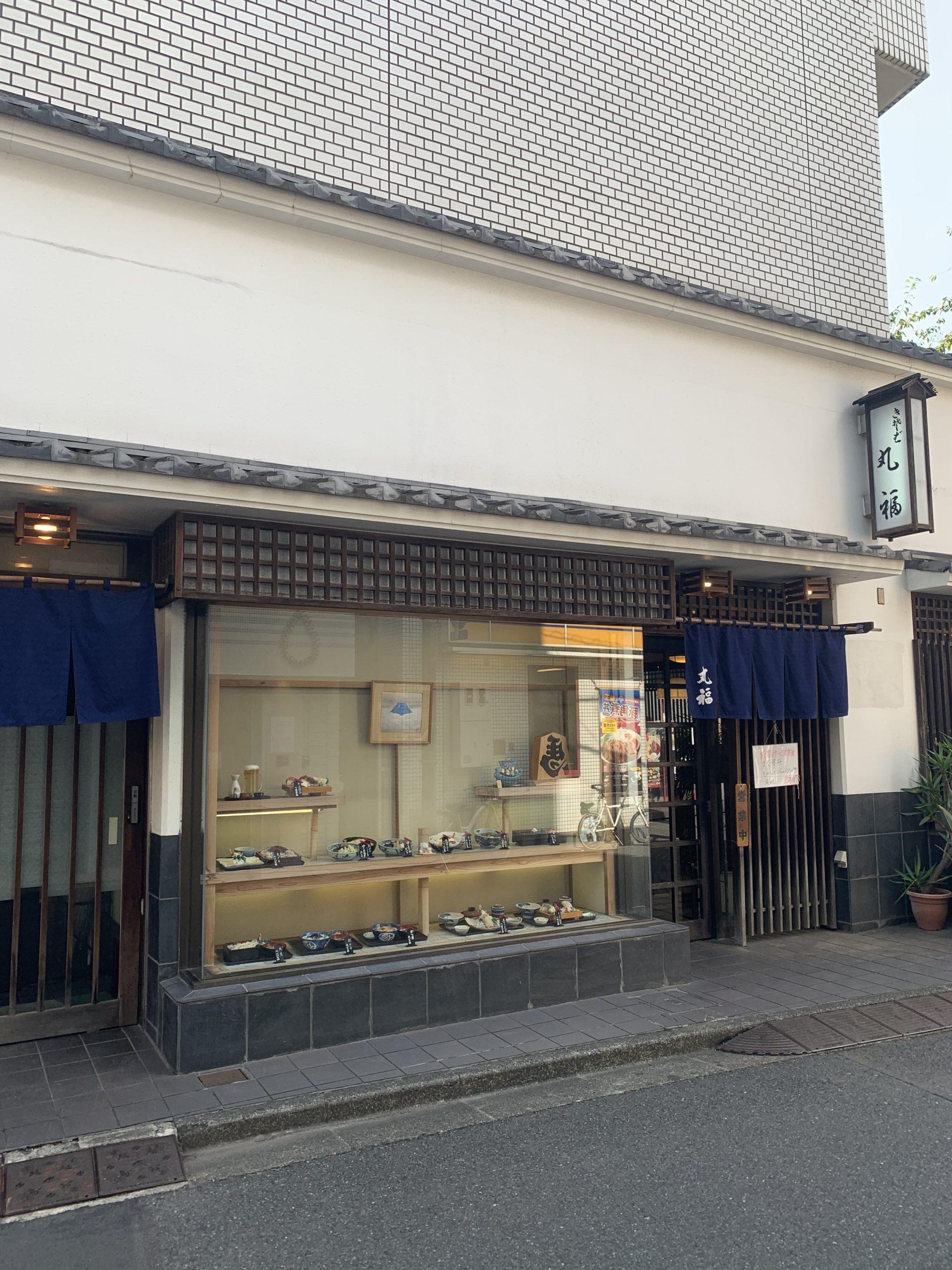 【五反田】丸福/不動前駅から商店街を抜けた角地。老舗風の立派な佇まいで客を惹きつける蕎麦屋。