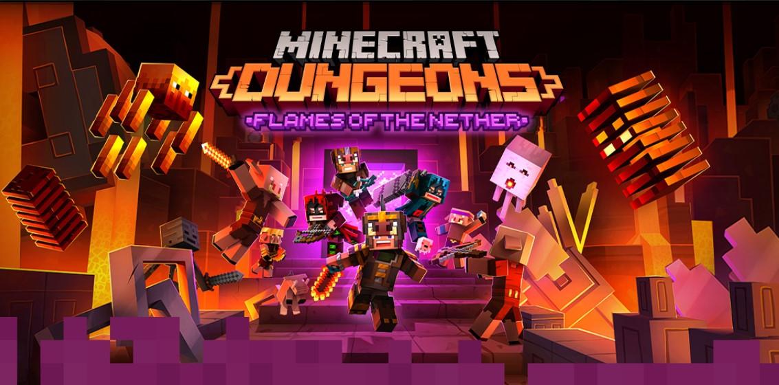 2.24大型無料アップデート! さらには新DLCネザーの炎が実装! ユーザー数1000万人突破「Minecraft Dungeons」の勢いが止まりません。